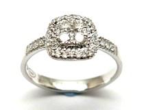 Anillo de oro y diamantes AN148026