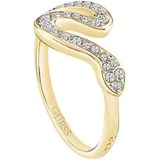 GOLDEN RING WITH CUBIC ZIRCONIA GUESS UBR72508-52