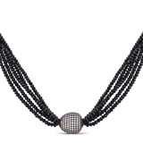 COLLAR LARGO LUXENTER PLATA Y ONIX NXA06690100