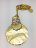 Collar plata chapada  EXH1904