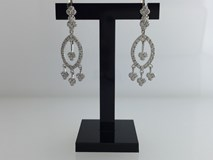 EARRINGS IN SILVER RHODIUM-PLATED SET WITH ZIRCONS 3663
