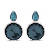EARRING LUXENTER SILVER BLUE STONE EXA04626000