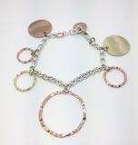 Pulsera plata chapada en oro rosa y amarillo EXB1264