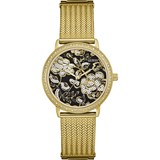 WATCH WOMAN'S STAINLESS STEEL YELLOW DIAL FLORAL W0822L2 GUESS