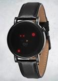 Reloj OR213R1Reloj digital de cuarzo para hombres, correa de piel, color negro The One