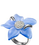 Viceroy of silver and swarovski crystal flower ring 1061A020-93