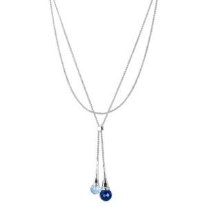 Abalorio collar colgante ajustable de plata con bolas de cristal azul 8435334802013 DEVOTA Y LOMBA Devota & Lomba