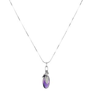 Abalorio collar colgante cristal lila con circonio 8435334802952 DEVOTA Y LOMBA Devota & Lomba