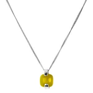 Abalorio collar colgante de plata con ámbar 8435334801955 DEVOTA Y LOMBA Devota & Lomba