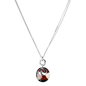 Abalorio collar colgante de plata con cristal granate 8435334802082 DEVOTA Y LOMBA Devota & Lomba