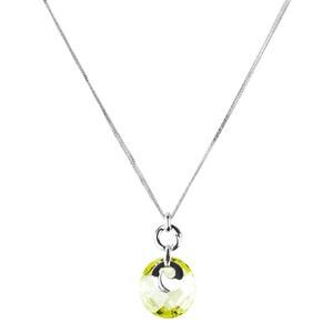 Abalorio collar colgante de plata con cristal verde 8435334802075 DEVOTA Y LOMBA Devota & Lomba