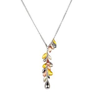 Abalorio collar colgante lagrimas plateadas, oro rosa y doradas 8435334801573 DEVOTA Y LOMBA Devota & Lomba