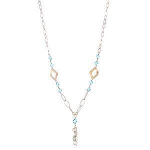 Abalorio collar dorado con cristales azules colgantes 8435334801283 DEVOTA Y LOMBA Devota & Lomba