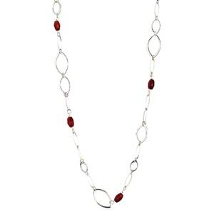 Abalorio collar dorado con cristales rojos 8435334801290 DEVOTA Y LOMBA Devota & Lomba