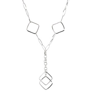 Abalorio collar rombos grandes con cadenas 8435334801337 DEVOTA Y LOMBA Devota & Lomba