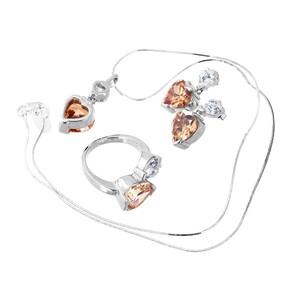 Abalorio conjunto collar colgante pendientes anillo cristal ámbar 8435334802921 DEVOTA Y LOMBA Devota & Lomba