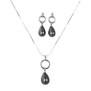 Abalorio conjunto collar colgante y pendientes colgantes con perlas lágrima 8435334802983 DEVOTA Y LOMBA Devota & Lomba