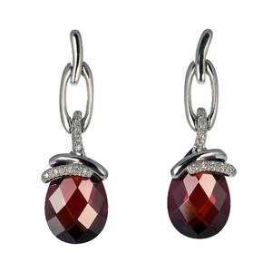Abalorio pendientes colgantes circonitas lágrimas cristales marrones y perla cristal 8435334802143 DEVOTA Y LOMBA Devota & Lomba