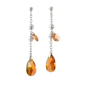 Abalorio pendientes colgantes con cristales naranjas 8435334801382 DEVOTA Y LOMBA Devota & Lomba