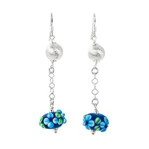 Abalorio pendientes cristales florales azules 8435334801238 DEVOTA Y LOMBA Devota & Lomba