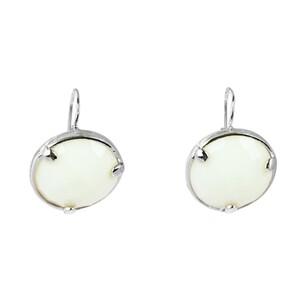 Abalorio pendientes cuarzo blanco forma redonda 8435334801726 DEVOTA Y LOMBA Devota & Lomba