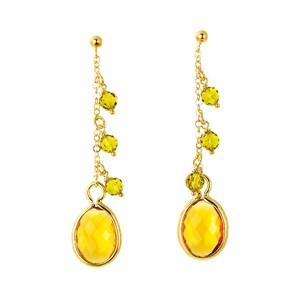 Abalorio Pendientes dorados con cristales amarillos 8435334801672 DEVOTA Y LOMBA Devota & Lomba