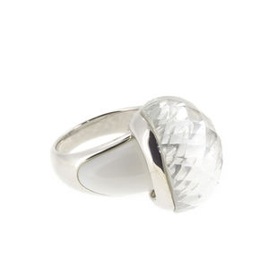 Anillo plata doble piedra 15S53 Stradda