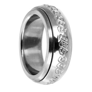 anillo acero símbolos giratorio 8435334803362 DEVOTA Y LOMBA Devota & Lomba