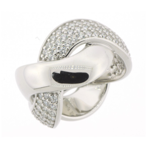 Anillo cruzado plata  C8S56614-54-B24 Kavak Diamonds