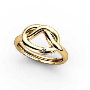 Anillo de Oro amarillo 18 kt  0,008 cts Diamantes 1011000214 Cresber