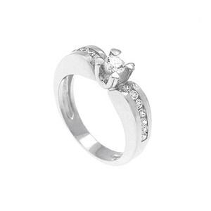Anillo de Oro blanco 18 kt con  0,60 cts Diamantes, Cresber
