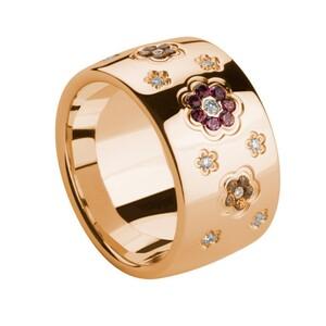 Anillo de oro con diamantes y piedras preciosas. LCD-3043/3 Oreage