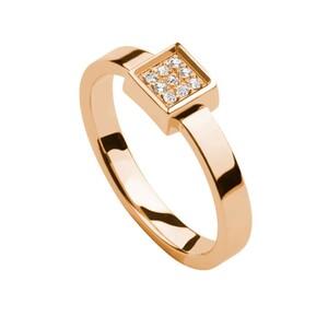 Anillo de oro rosa y diamantes. LCD-3066/44 Oreage