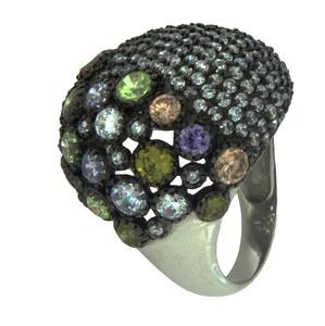 Anillo de plata con piedras de colores 301 LineArgent