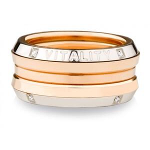 Anillo de plata y oro con diamantes. OREAGE-350