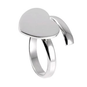 Anillo heart Silver 8435445303379 Lua Blanca