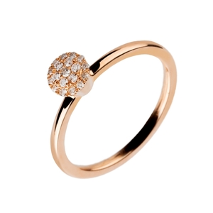 Anillo oreage  solitario diamantes