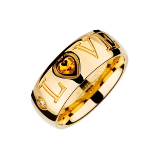 Anillo oreage citrino diamantes