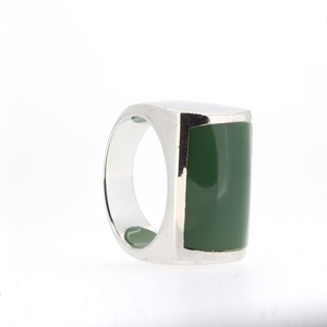 Anillo plata piedra verde  15S46V Stradda