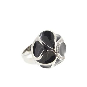 Anillo plata Stradda piedra negra circonitas  15S55