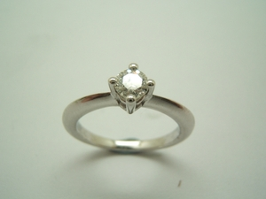 Anillo solitario Oro blanco y Diamante B-79