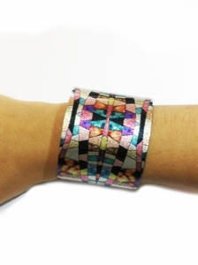 BRAZALETE CRYSTAL AND CHROME CRYST-001
