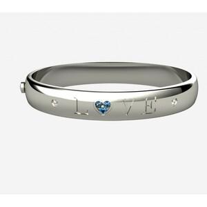 Brazalete de plata, zafiro y diamantes. CNB-0039/4 Oreage