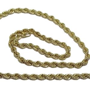 Cadena Cordón salomónico de Oro Amarillo de 18k de 3.5mm de Ancho por 60cm de Largo y 7.55gr de Oro de 18k Never say never