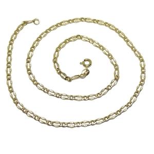 Cadena de oro amarillo de 18k para mujer de 45cm de larga y 3.5mm de ancha. Never say never