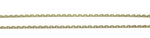 Cadena de oro amarillo de 18kts tipo forzada ideal para comunión. 50cm Never say never