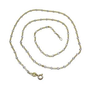 Cadena de oro amarillo y oro blanco de 18Ktes. 45cm Never say never