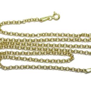 Cadena para Mujer de Oro Puro de 18k Modelo rolo Plana de 3mm de Ancha y 50cm  Never say never