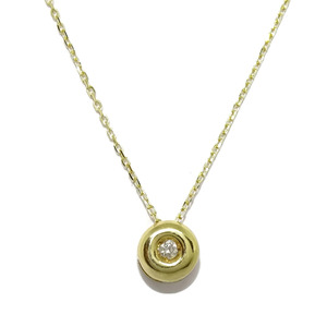 Chaton de 0.05cts de diamantes y oro amarillo de 18Ktes. 40cm Never say never