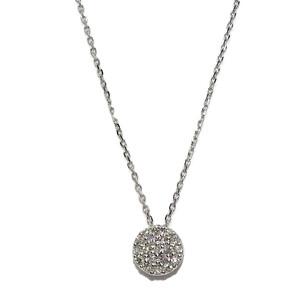 Clásico Colgante para Mujer de Oro Blanco de 18k con 0.15cts de Diamantes, 7mm  Never say never